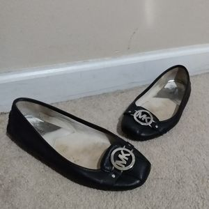 Women's Michael Kors MK Black Ballet Flats Size 10